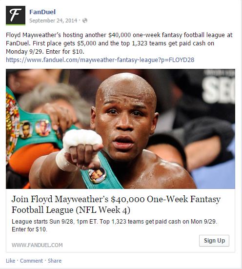 Floyd Mayweather Fan Duel