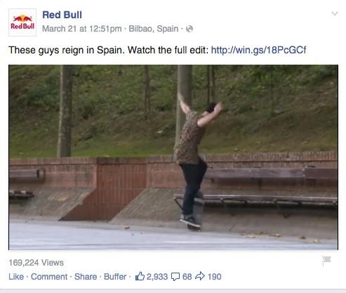 redbull facebook ad